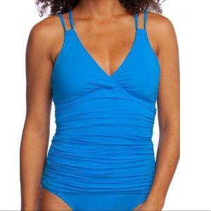 La Blanca Underwire Tankini Top New! $91 Size 6